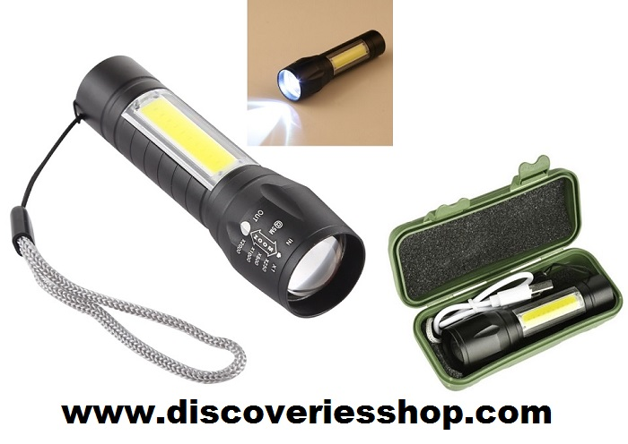 ΦΑΚΟΣ LED XPE + COB USB DISC169