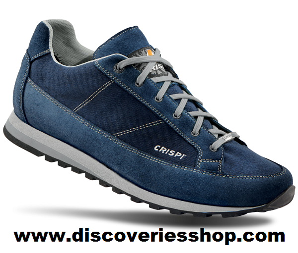 ΠΑΠΟΥΤΣΙΑ CRISPI ADDICT LOW CANVAS BLUE GREY